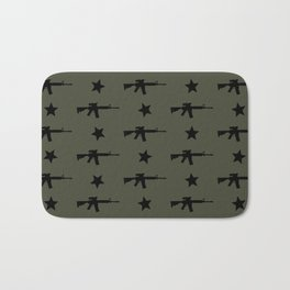 M4 Assault Rifle Pattern Bath Mat
