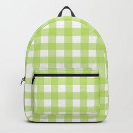 Green gingham pattern Backpack