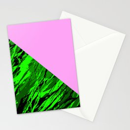 Green Forest Pink Sky Stationery Cards
