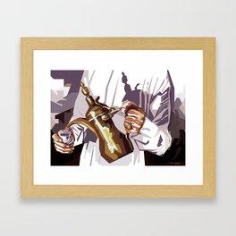 Dallah coffee pot Framed Art Print