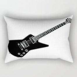 Black And White Guitar Rectangular Pillow