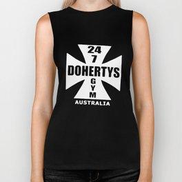 Dohertys Gym Australia Cross Logo Bodybuilding T-Shirts Biker Tank