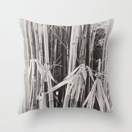 Beautiful bamboo in sepia Throw Pillow