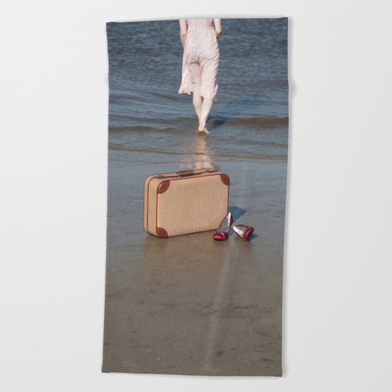Summertime Sadness Beach Towel