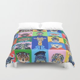 Collage animales Duvet Cover