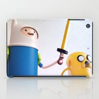finn and jake iPad Cases featuring Heroes: Finn & Jake (Close) by Ben Christie