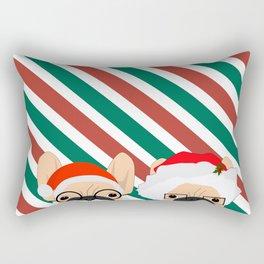 Holiday Bulldogs Rectangular Pillow