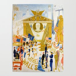 The Cathedrals of Wall Street by Florine Stettheimer, 1939 Poster
