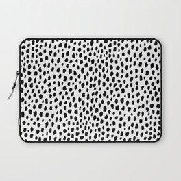 Dalmatian Spots (black/white) Laptop Sleeve