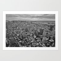 Manhattan from 1WTC Art Print