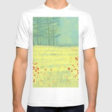 Meadow near Périgueux White Mens Fitted Tee MEDIUM