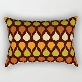 60s, 70s, Vintage geometric patterns, Brown drops, yellow drops Rectangular Pillow