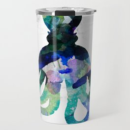 Watercolour Octopus on Marble Background Travel Mug