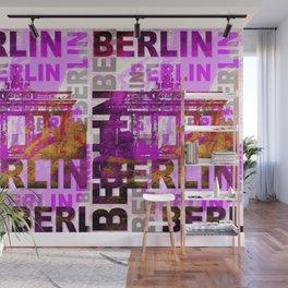 Berlin pop art typography illustration Wall Mural