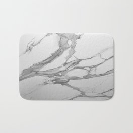 White Marble With Silver-Grey Veins Bath Mat
