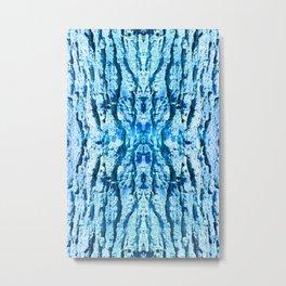 Blue Bark Metal Print