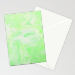 Neon Green Marble Stationery Cards