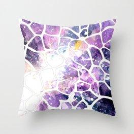 galaxy giraffe Throw Pillow