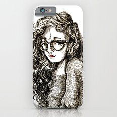 Girl with glasses Slim Case iPhone 6s