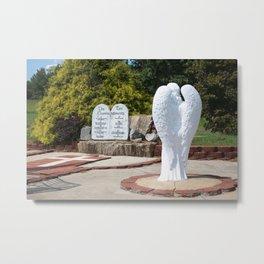 The Ten Commandments With Angel Metal Print