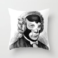 wrestling Throw Pillows featuring WRESTLING MASK 4 by DIVIDUS
