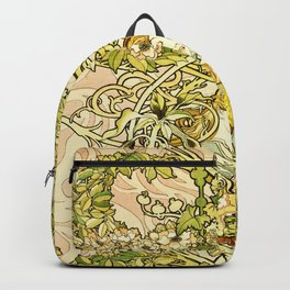 Alphonse Mucha - Lady with Daisy Backpack