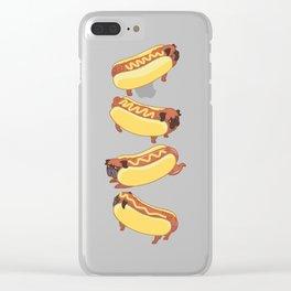 Pugs Hotdog Clear iPhone Case