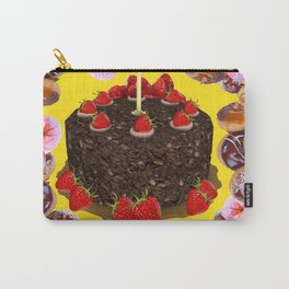 PINK FROSTED DONUTS BIRTHDAY PARTY Carry-All Pouch