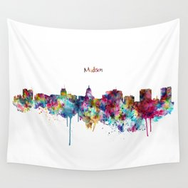 Madison Skyline Silhouette Wall Tapestry