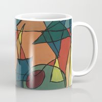 martini Mugs featuring Cubist Martini by Soldiers in Petticoats Press