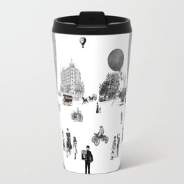 city view from window in 1898 vintage Victorian Travel Mug