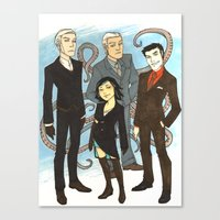 suits Canvas Prints featuring Suits by FindChaos