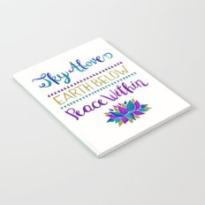 Sky Above Earth Below Peace Within Notebook