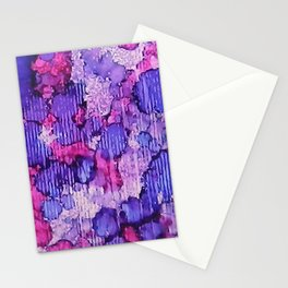 Raining Pink and Purple Ink #2 Stationery Cards