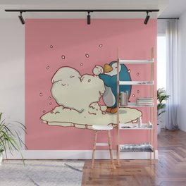 Penguin Be Mine Wall Mural
