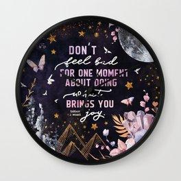 Sarah J Maas - ACOTAR Wall Clock