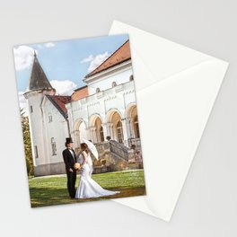 Love in castle Stationery Cards