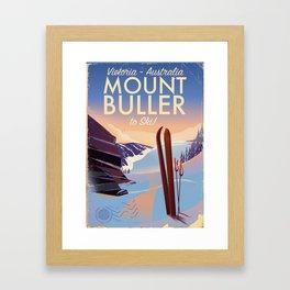 Mount Buller Australia Ski resort Framed Art Print