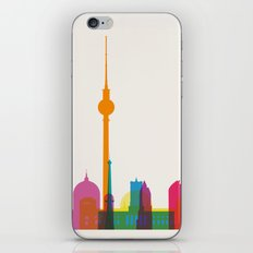 Shapes of Berlin accurate to scale iPhone Skin