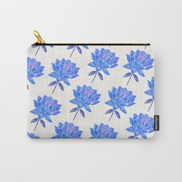 Sacred Lotus – Blue Blossom Carry-All Pouch