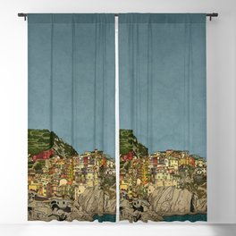 Of Houses and Hills Blackout Curtain