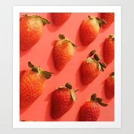 Pop Strawberry Art Print
