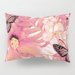 Coral Pink Hibiscus Pillow Sham