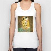 klimt Tank Tops featuring Gustav Klimt The Kiss by Art Gallery