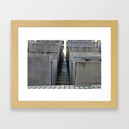 The Holocaust memorial at the Brandenburg Gate in Berlin Framed Art Print