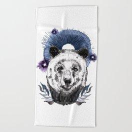 The Bear (Spirit Animal) Beach Towel
