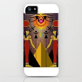 Hathor under the eyes of Ra -Egyptian Gods and Goddesses iPhone Case