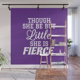 Little & Fierce (Purple) Wall Mural