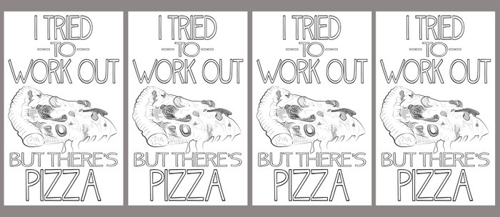 I tried to work out...but there's pizza Coffee Mug