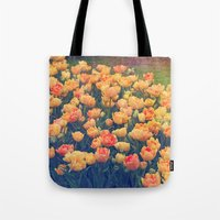 tulips Tote Bags featuring Tulips  by Juliana RW